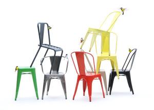 Tolix stole i mange flotte farver